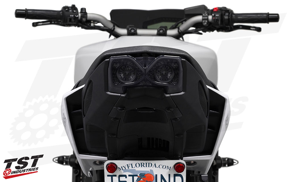 Smoked TST LED Integrated Tail Light for Yamaha FZ-09 / MT-09 2017+.
