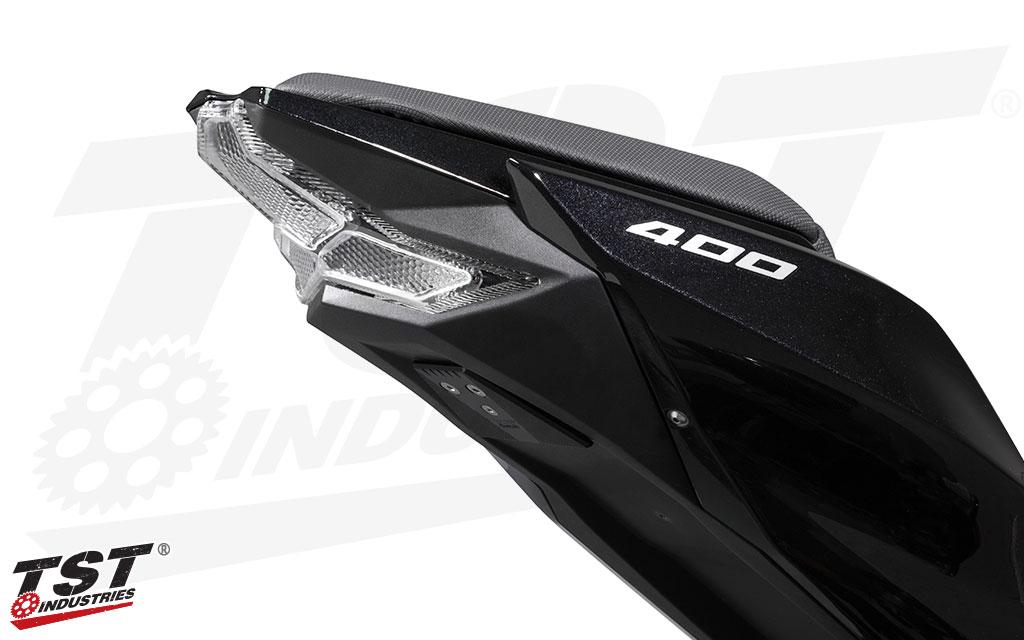 Integrated Sequential LED Tail Lights Smoked Lens for 2018-2019 Kawasaki Ninja 400
