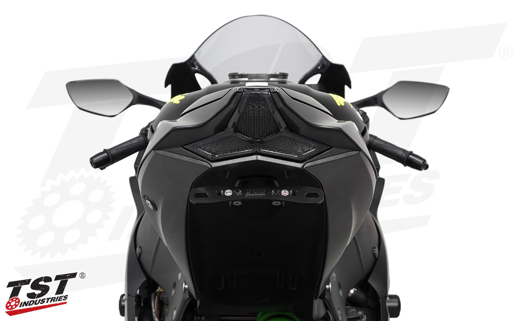 Unique lens geometry compliments the 2016+ Kawasaki ZX1-0R.