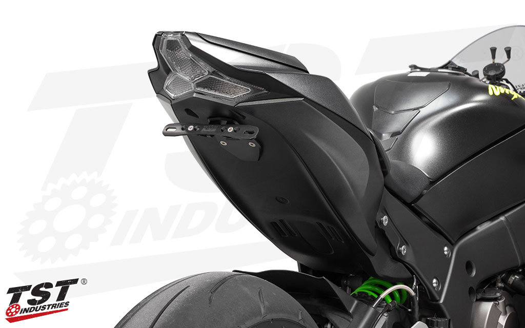 Upgrade your 2016+ Kawasaki ZX-10R with the TST Industries LED Integrated Tail Light.