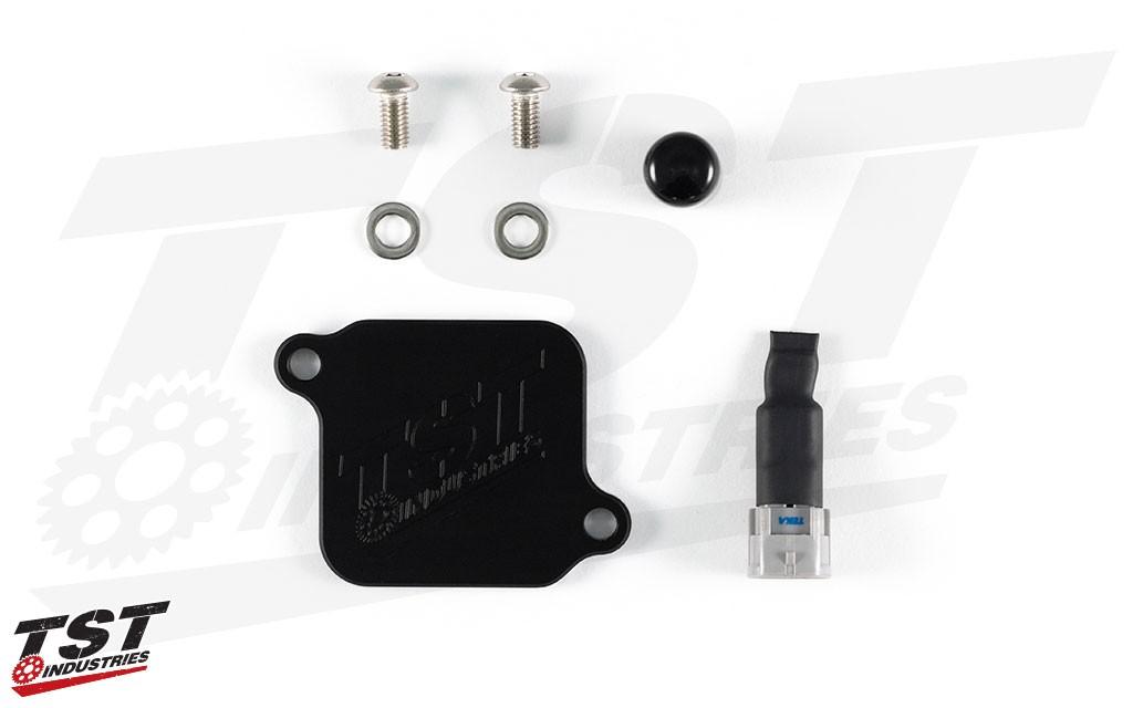 What's included in the TST Kawasaki Ninja 400 / Z400 Block Off Kit.