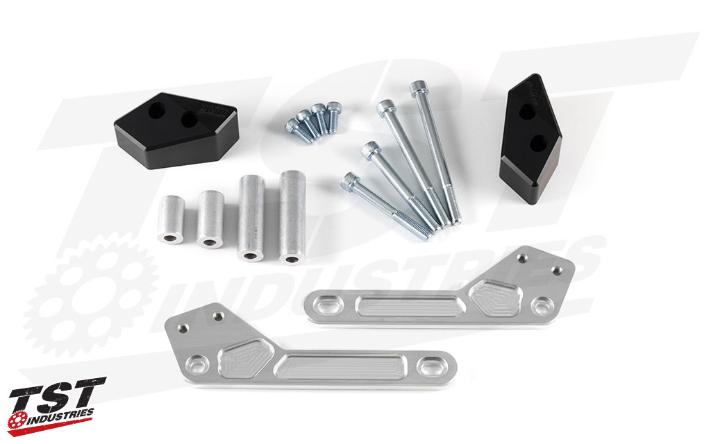 What's included in the Ninja 400 TST Frame Slider kit.