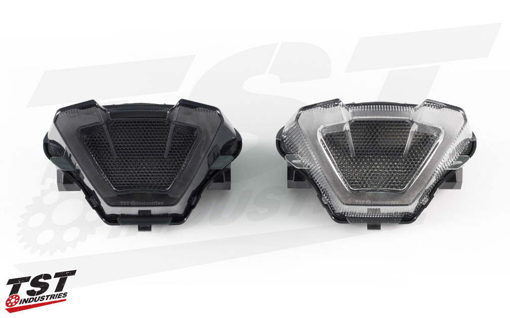 The TST LED Integrated Tail Light for the 2018+ Yamaha MT-07 is available in Smoked or Clear lens.