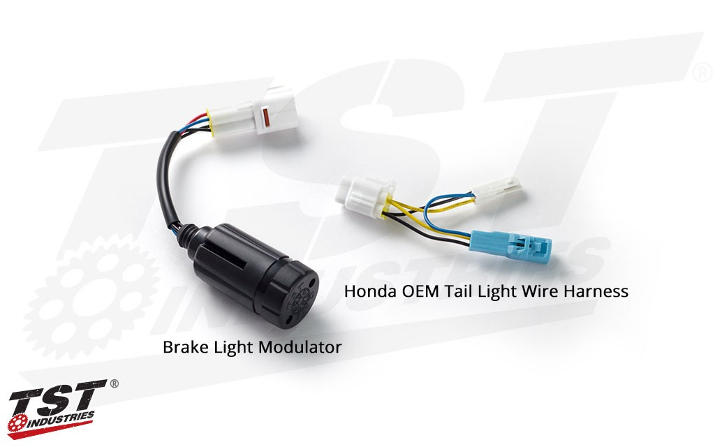 TST Brake Light Modulator - shown with Honda OEM wire harness.