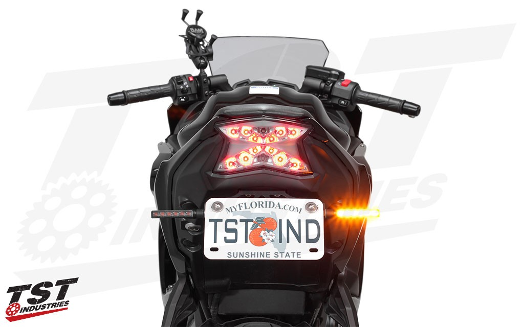 Upgrade your rear turn signals with the TST LED rear turn signal bundle. (Available as a Buy Together option - NOT included.)