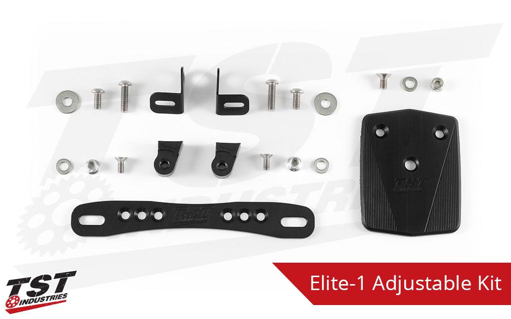 TST Adjustable Elite-1 Fender Eliminator for Kawasaki Ninja 650 / Z650 2017+.
