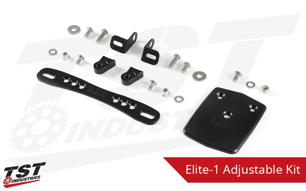 What's included in the adjustable license plate bracket kit.