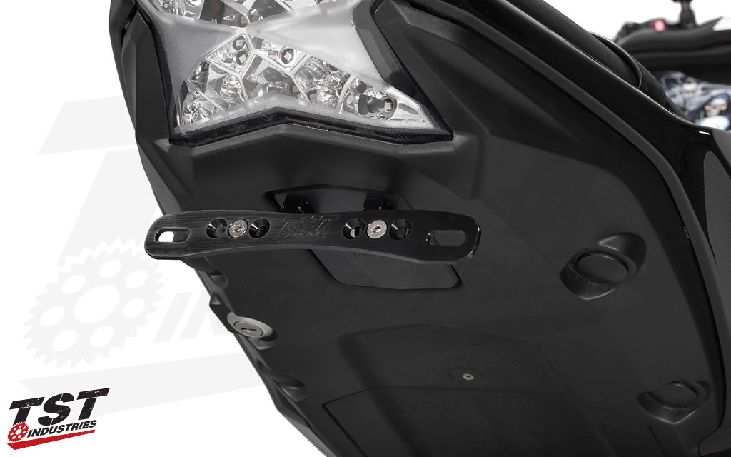 Adjustable license plate bracket enable customized license plate angle.