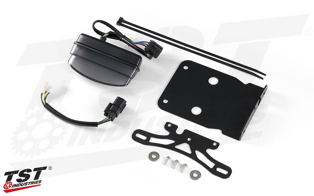 Upgrade your Kawasaki KLX with our LED Integrated Tail Light and Fender Eliminator System.