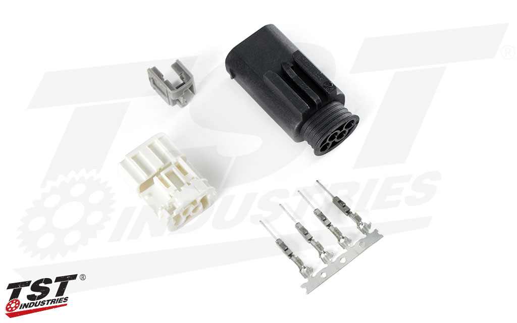 TST Male Plug Connector for BMW Rear Lighting Harness - What's included.