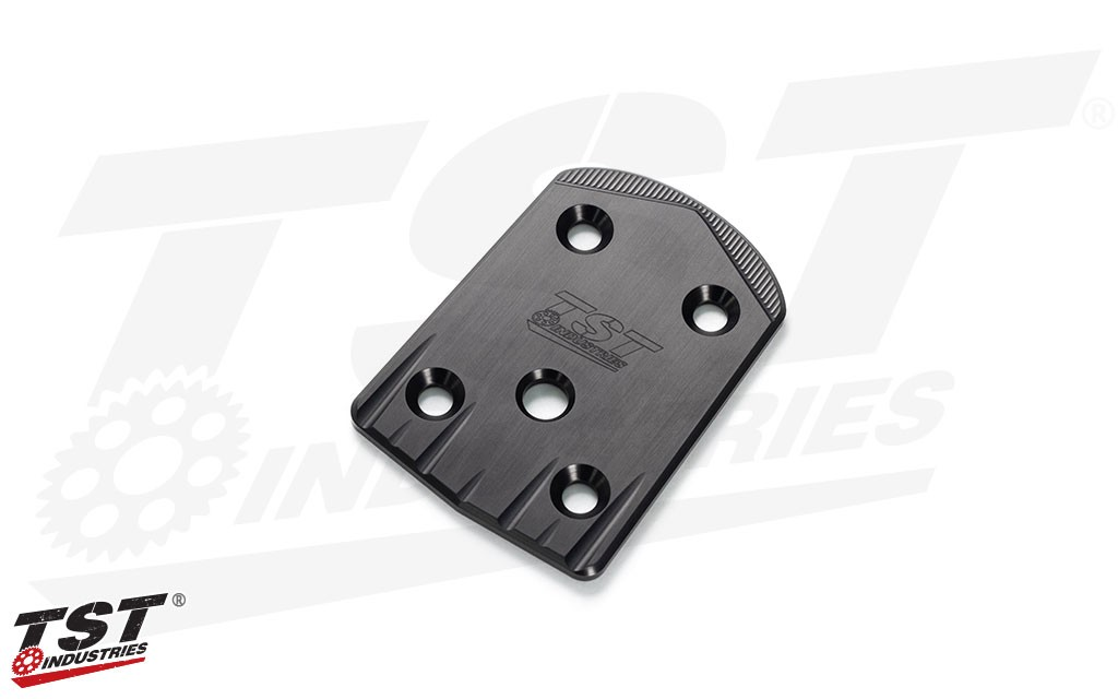Both Elite-1 Fender Eliminator solutions include the CNC machined 6061 aluminum Undertail Closeout.
