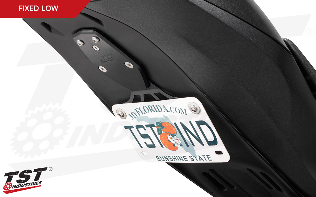 Low Mount Elite-1 Fender Eliminator is a sleek and low-profile way of mounting your ZX-10R license plate.