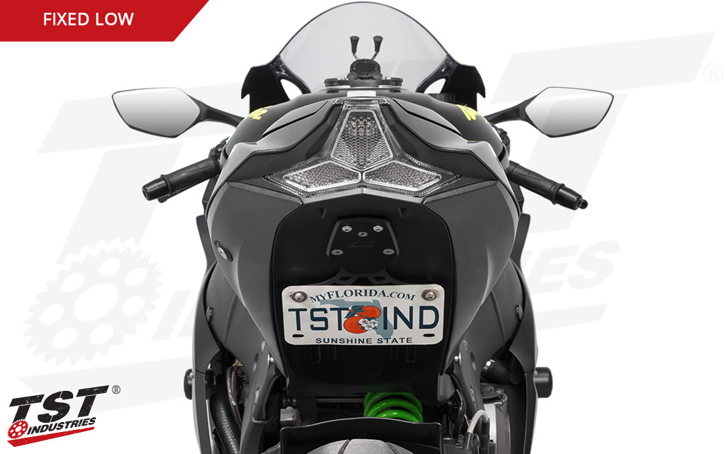 Clean up the entire tail section of your ZX-10R with the Fixed Low Elite-1 Fender Eliminator.