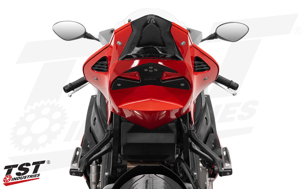 Keep dirt and debris out of your S1000RR tail section with the TST Undertail Closeout.