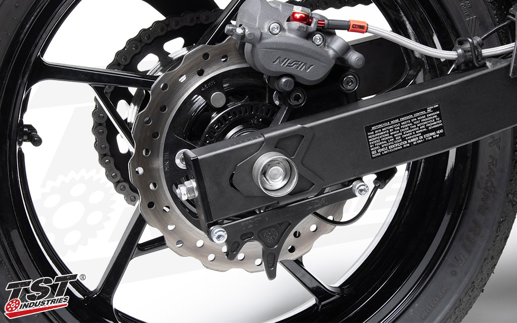 Developed for street and track to make rear wheel maintenance easier on your Ninja 400.