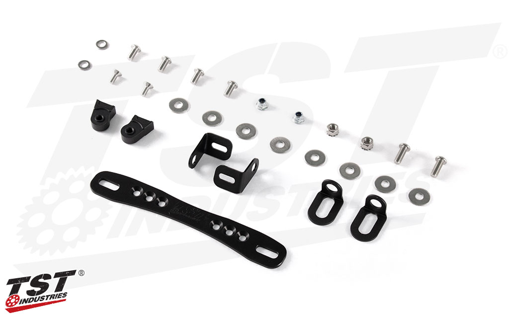 What's included in the Elite-1 Adjustable Fender Eliminator for Yamaha XSR700 2016+.