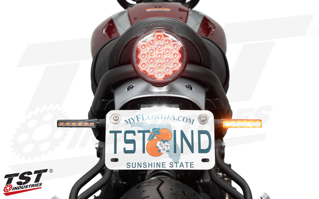 Shown with the TST BL6 LED Turn Signals - sold separately.