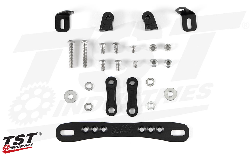 What's included in the TST Adjustable Fender Eliminator for the 2019+ Honda CRF450L.