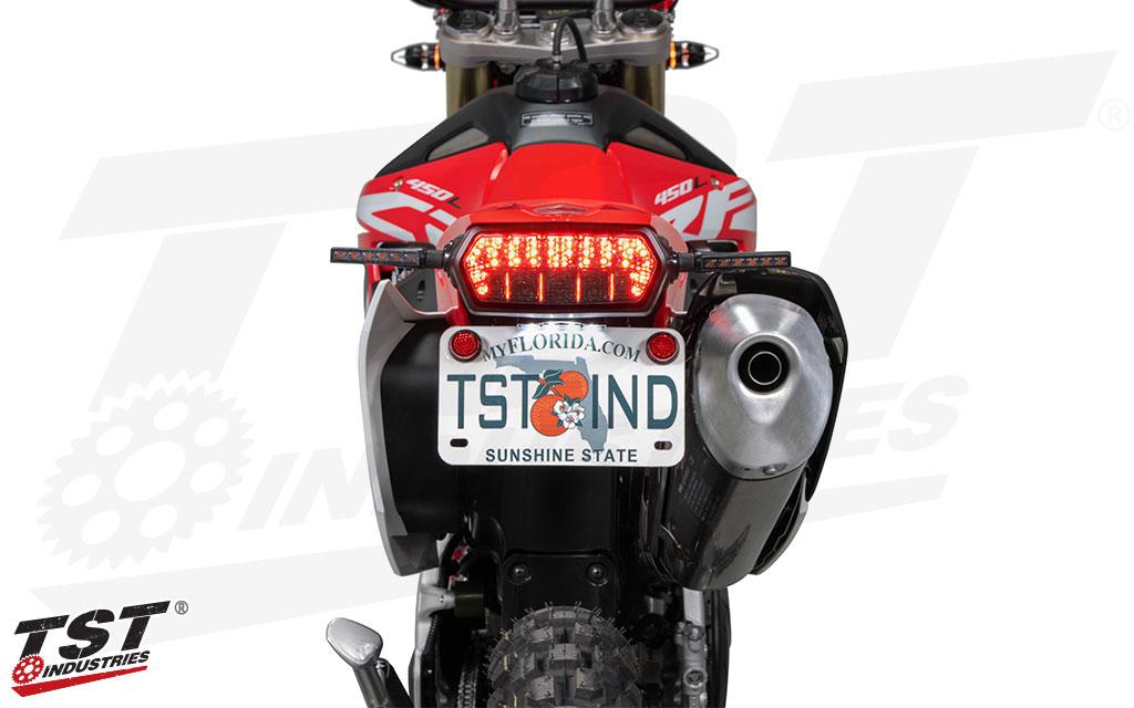 TST Adjustable Fender Eliminator for Honda CRF450L 2019+ - LED License Plate Light sold separately