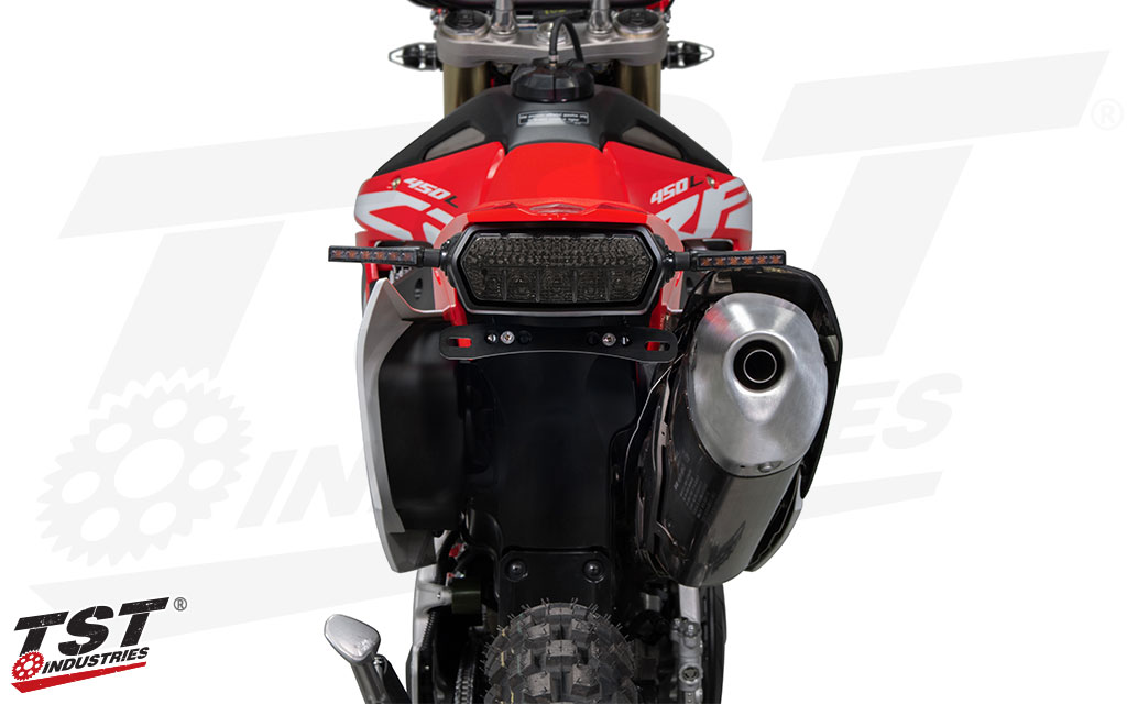 Ditch the oversized stock fender and give your CRF450L a high-quality license plate bracket.