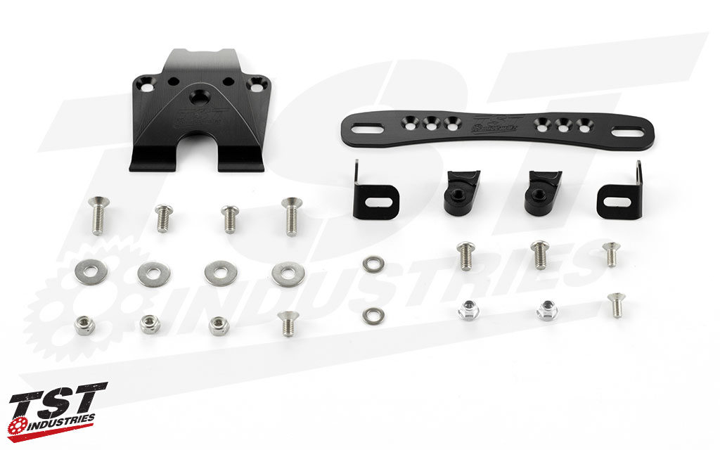 What's Included: TST Elite-1 Fender Eliminator & Undertail Closeout - Adjustable High Mount Kit Shown.