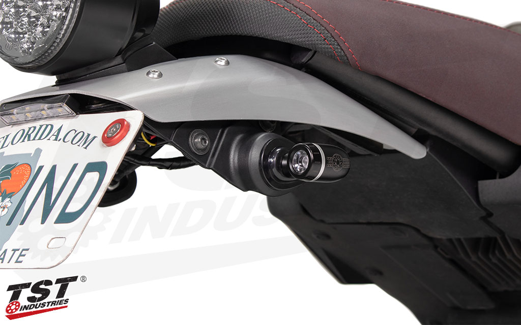 With many different mounting options, you can install the TST ECHO signals on the rear or front of most motorcycles.