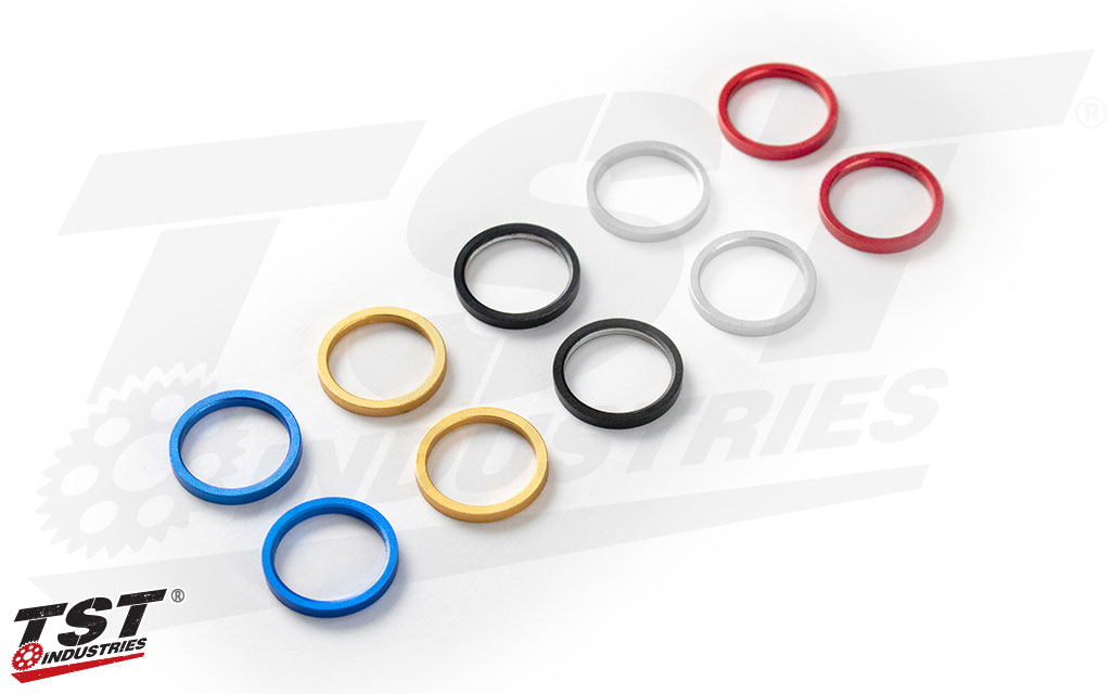 TST ECHO Anodized Color Ring Set Color Options - Sold in PAIRS.