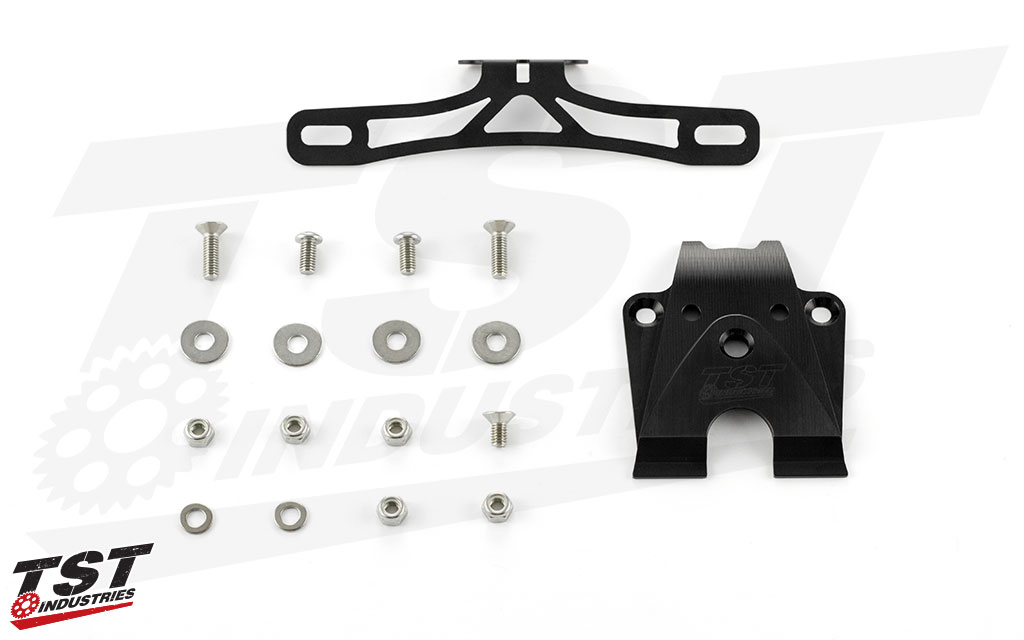 What's Included: TST Elite-1 Fender Eliminator & Undertail Closeout - Fixed High Mount Kit Shown.