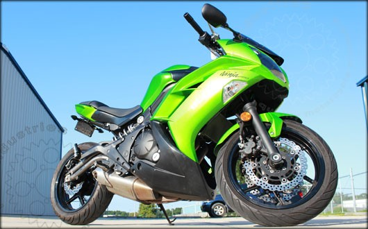 Kawasaki Ninja 650R Fender Eliminator (shown with TST LED Pod Signal Kit).