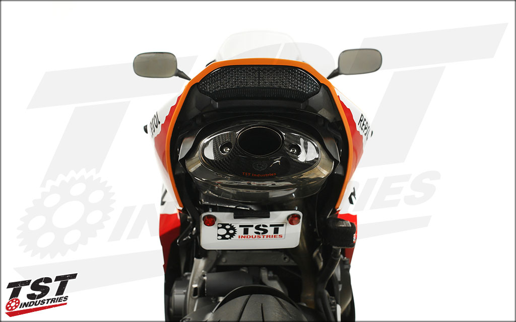 Smoked lens Integrated Taillight on the 2013 Honda CBR600RR.