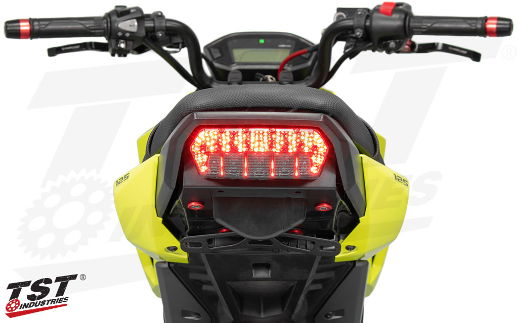 TST Programmable and Sequential LED Integrated Tail Light for Honda Grom 2013+