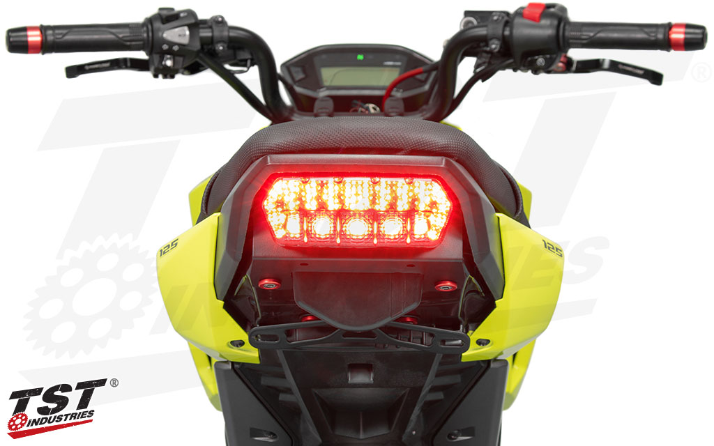 Extremely bright LEDs provide ample light output.