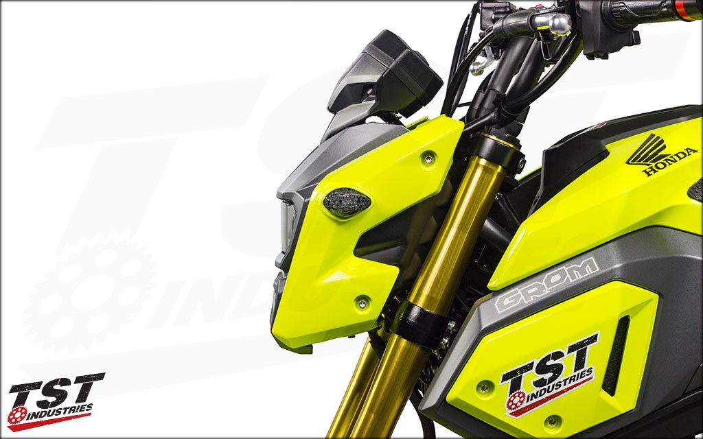 TST Industries LED Flushmount Turn Signals on the 2017+ Honda Grom.