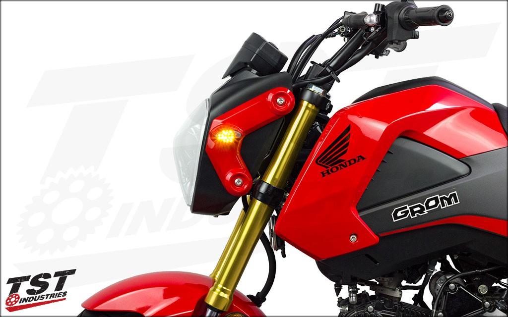 Honda Grom 2013-2018 LED Front Flushmount Turn Signals.