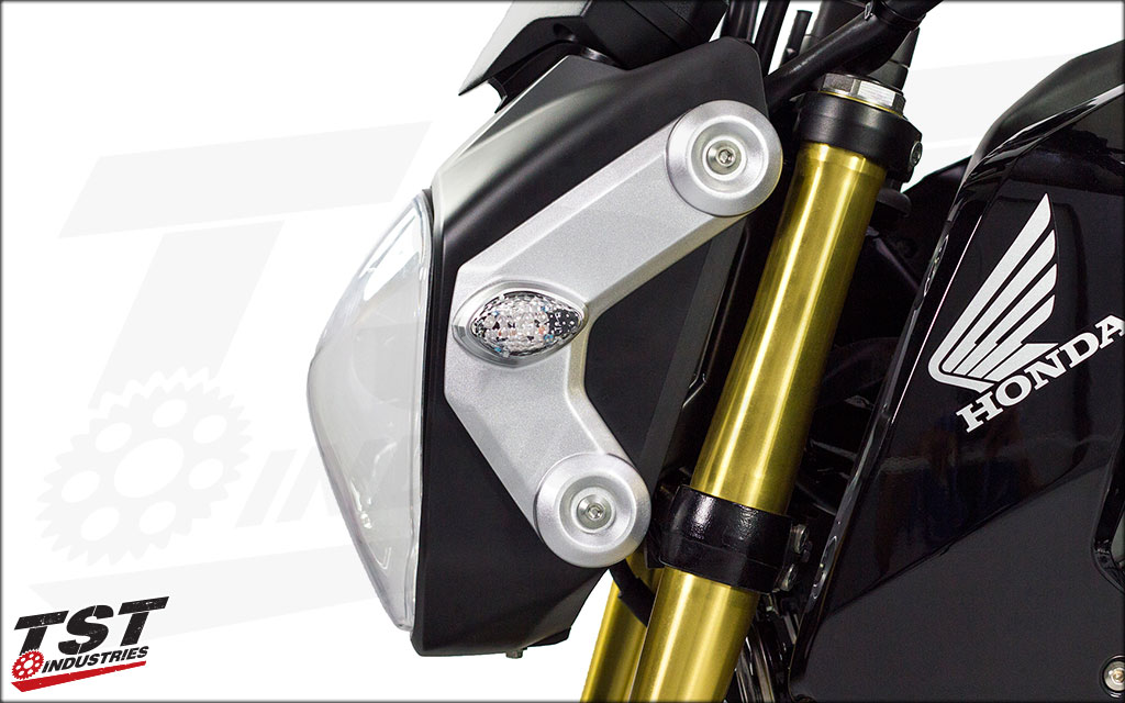 Clear Lens LED Front Flushmount Turn Signals.