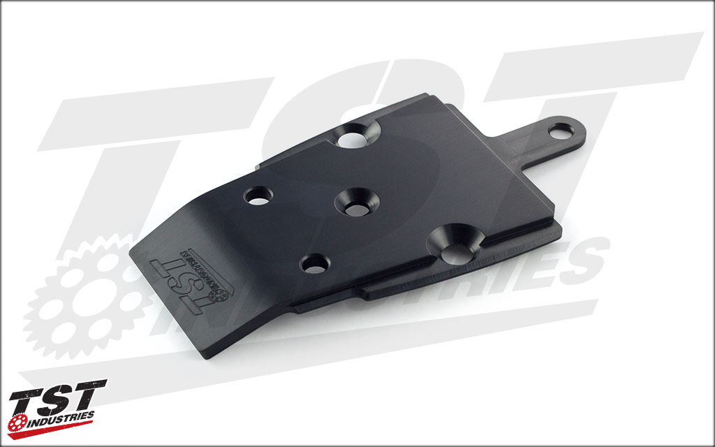 Our TST CNC machined aluminum undertail closeout features a durable black anodized finish.
