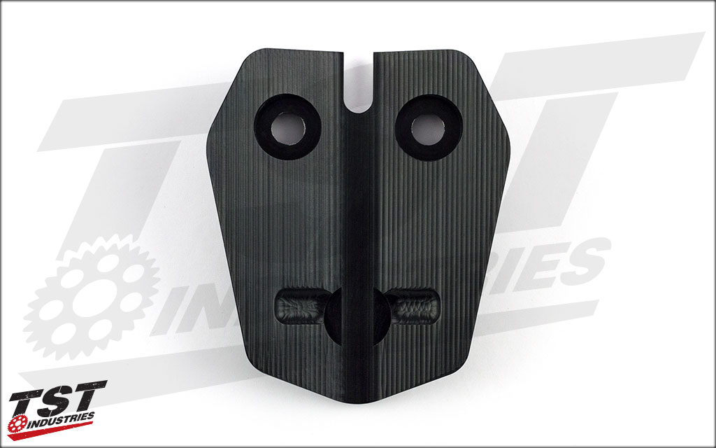Smaller profile design than other options via extensive use of surface machining
