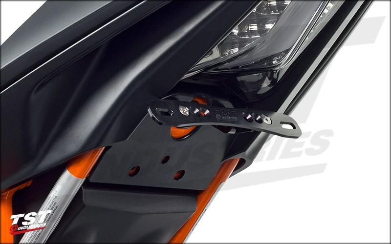 Adjustable fender eliminator installed alone on a 2015 KTM RC390