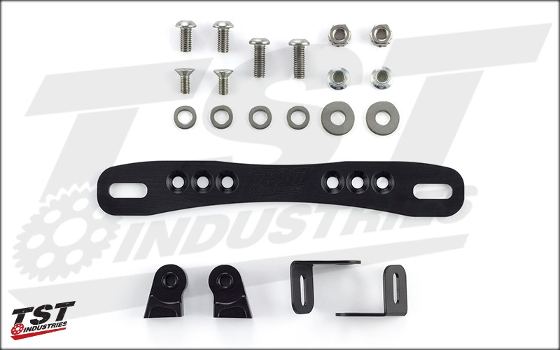 Items included in this adjustable fender eliminator kit