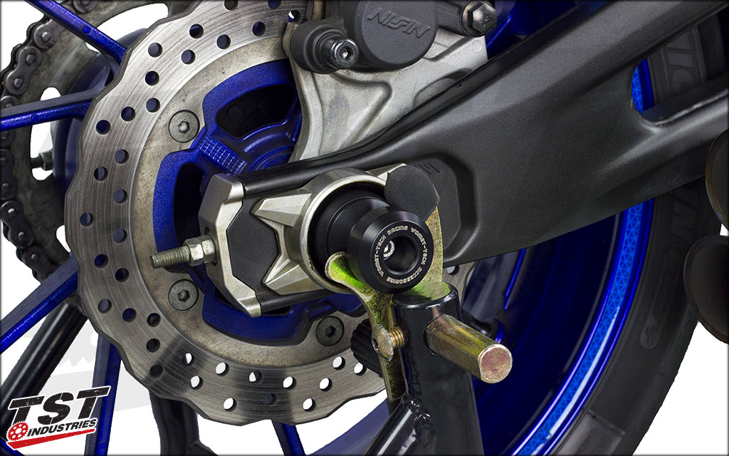 Pack Included Womet-Tech Rear Axel Slider System for Yamaha XSR700.