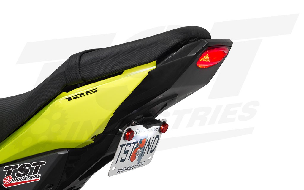 TST Industries LED integrated tail light and undertail closeout for the 2017+ Honda Grom.