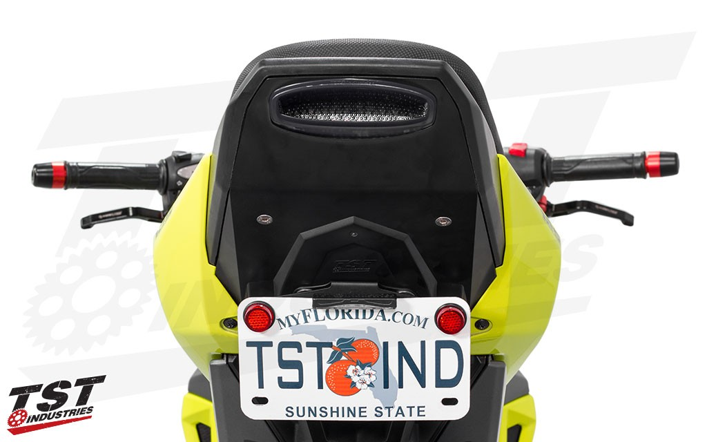 Fixed Low mount license plate bracket on the 2017+ Honda Grom