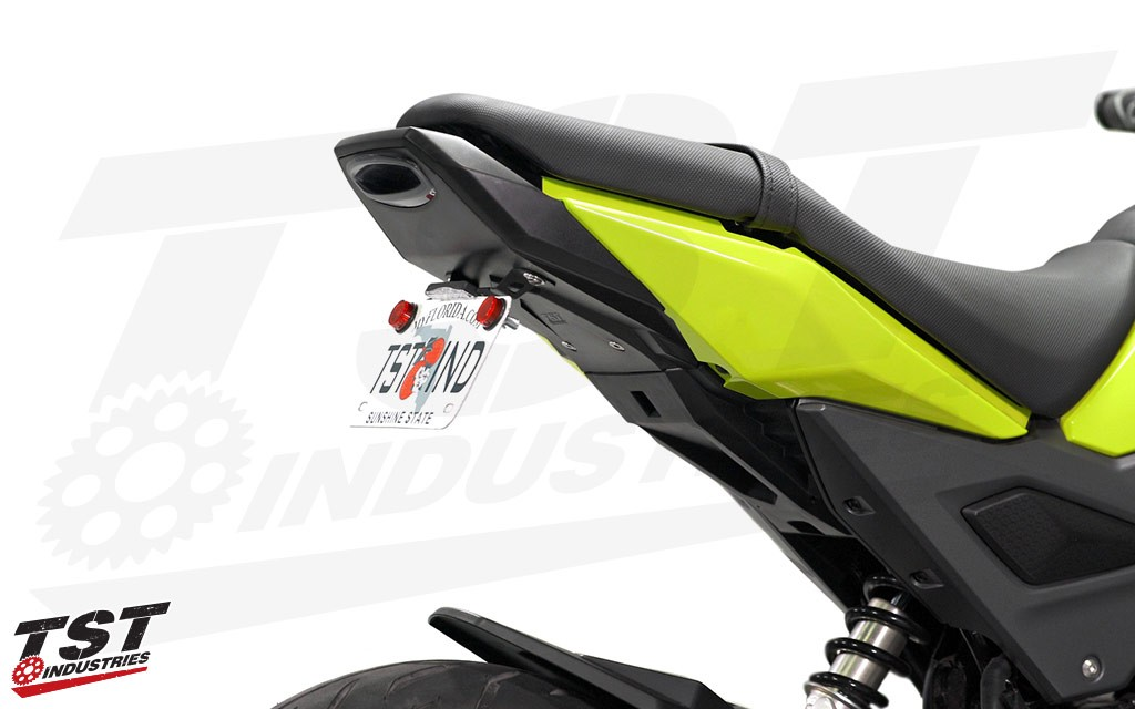 TST LED integrated tail light and undertail closeout for the 2017+ Honda Grom