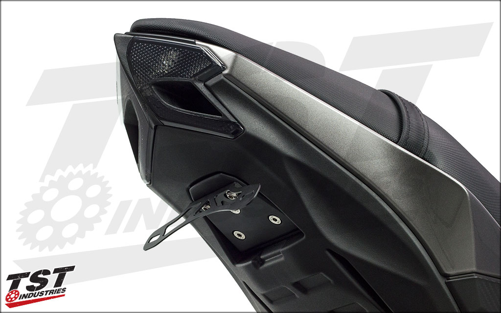 Standard fender eliminator installed with an undertail closeout prototype (not included).