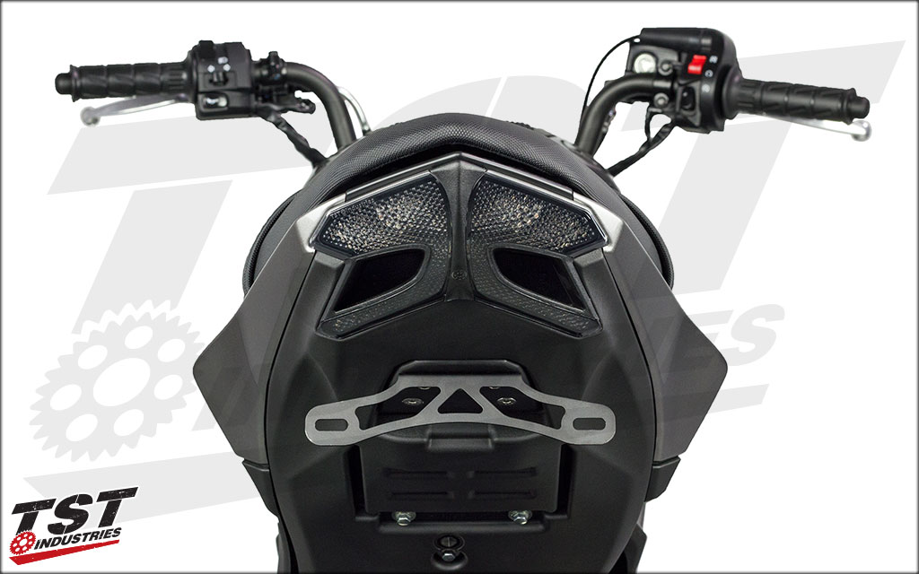 Pairs well with our Z125 integrated taillight. Undertail closeout prototype also shown (not included).