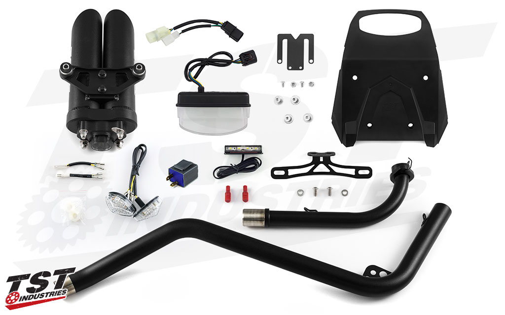 What's included in the Hyperpack. Options Selected: Clear Tail Light, Clear Front Flushmounts, and Black Midpipe