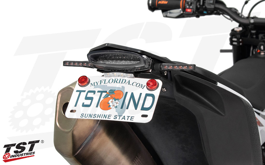 Add extra lighting and safety by running dedicated turn signals along with your TST LED integrated tail light.