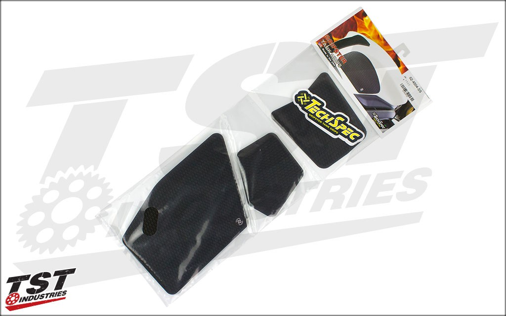 Retail package for these RC390 tank grips and center protector