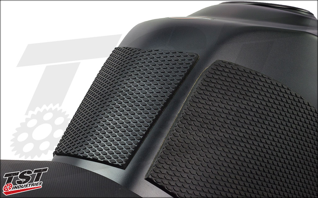 Center protector can help with sliding up the tank and protect your bike's paint from buckles, etc