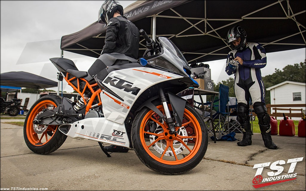 The tank grips and protector really enhance the riding experience - on the street and the track